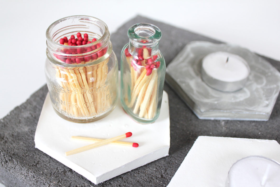 Matches in jars