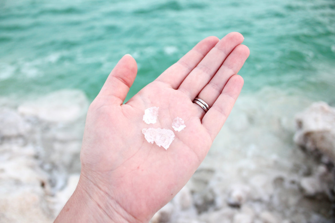 crystal clear Dead Sea salt