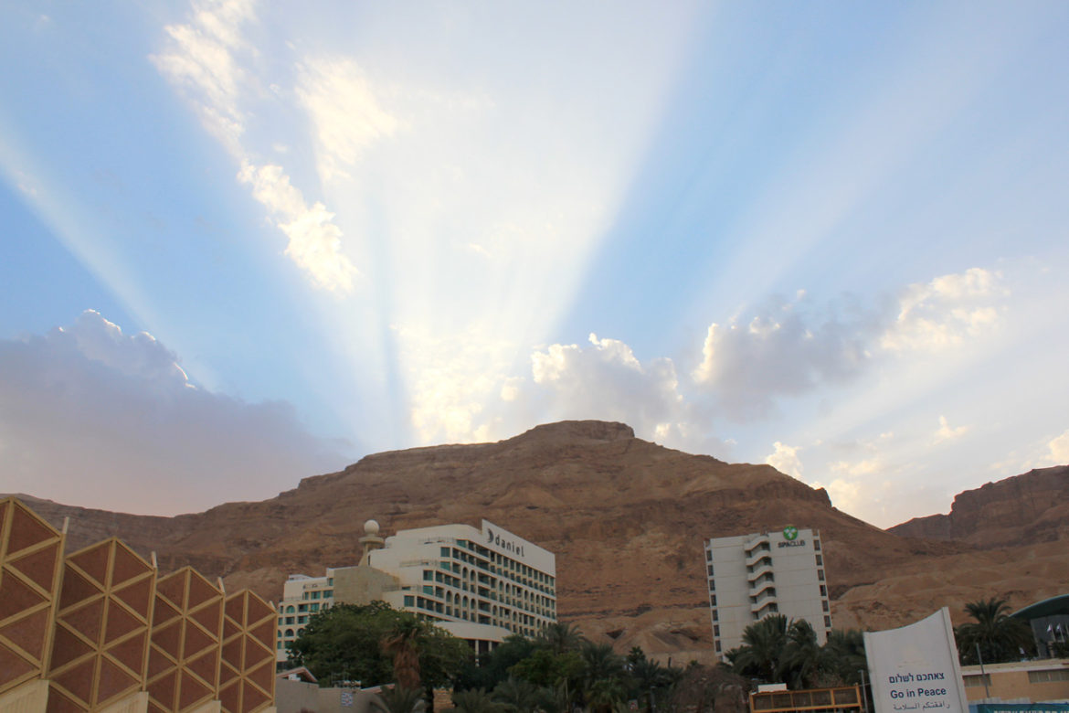 Sun rays at the Dead Sea
