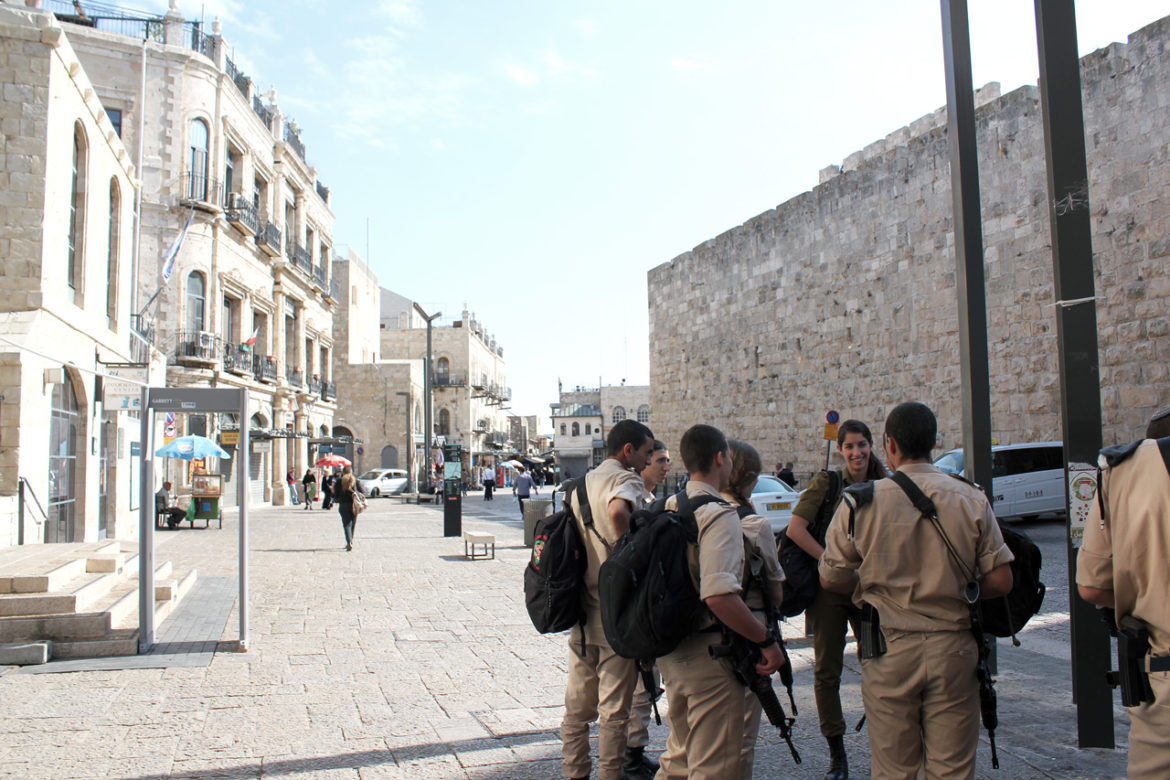 Soldiers at Jaffa Gate