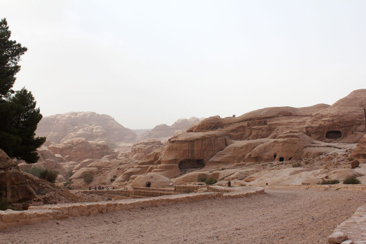 The gravel road entrance to Petra