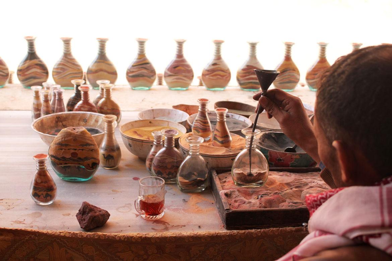 Sand jar souvenirs at Petra