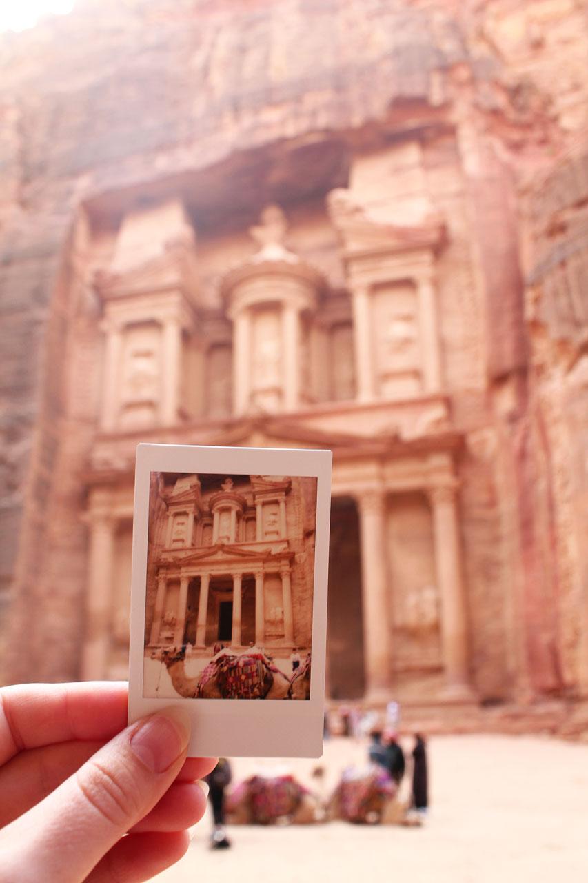 Instax Polaroid of the Treasury, Petra