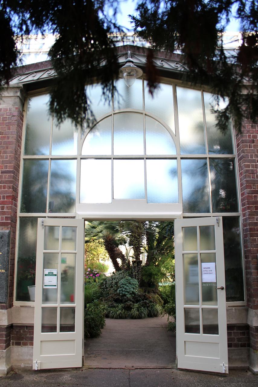 Wintergardens glasshouse entrance