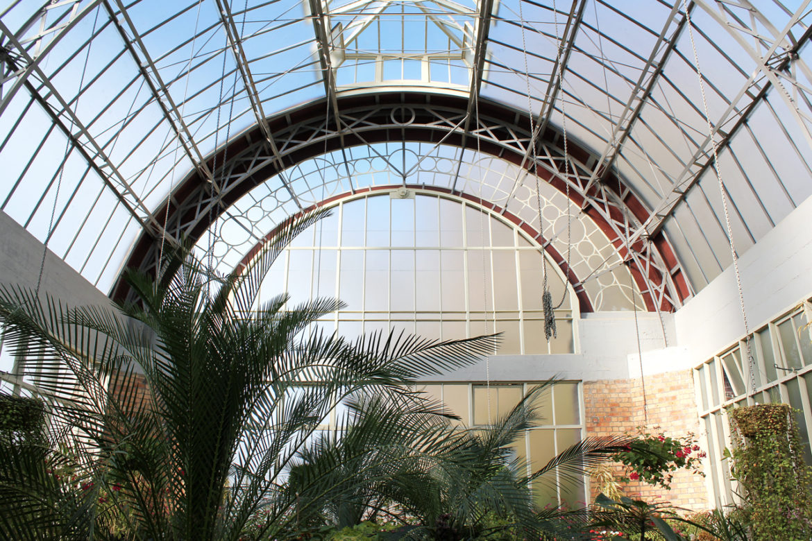 Wintergardens glasshouse roof