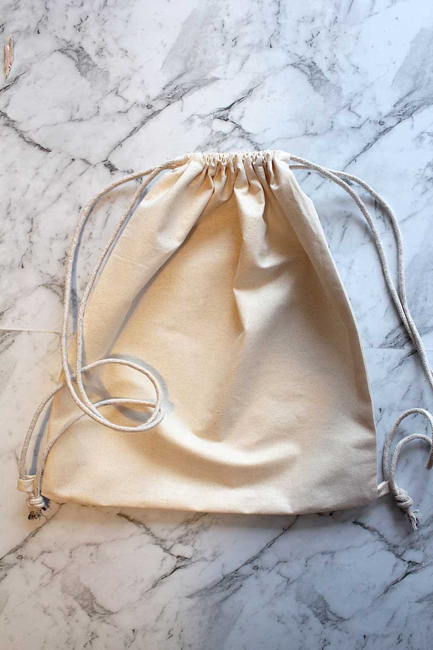Drawstring bag final closed