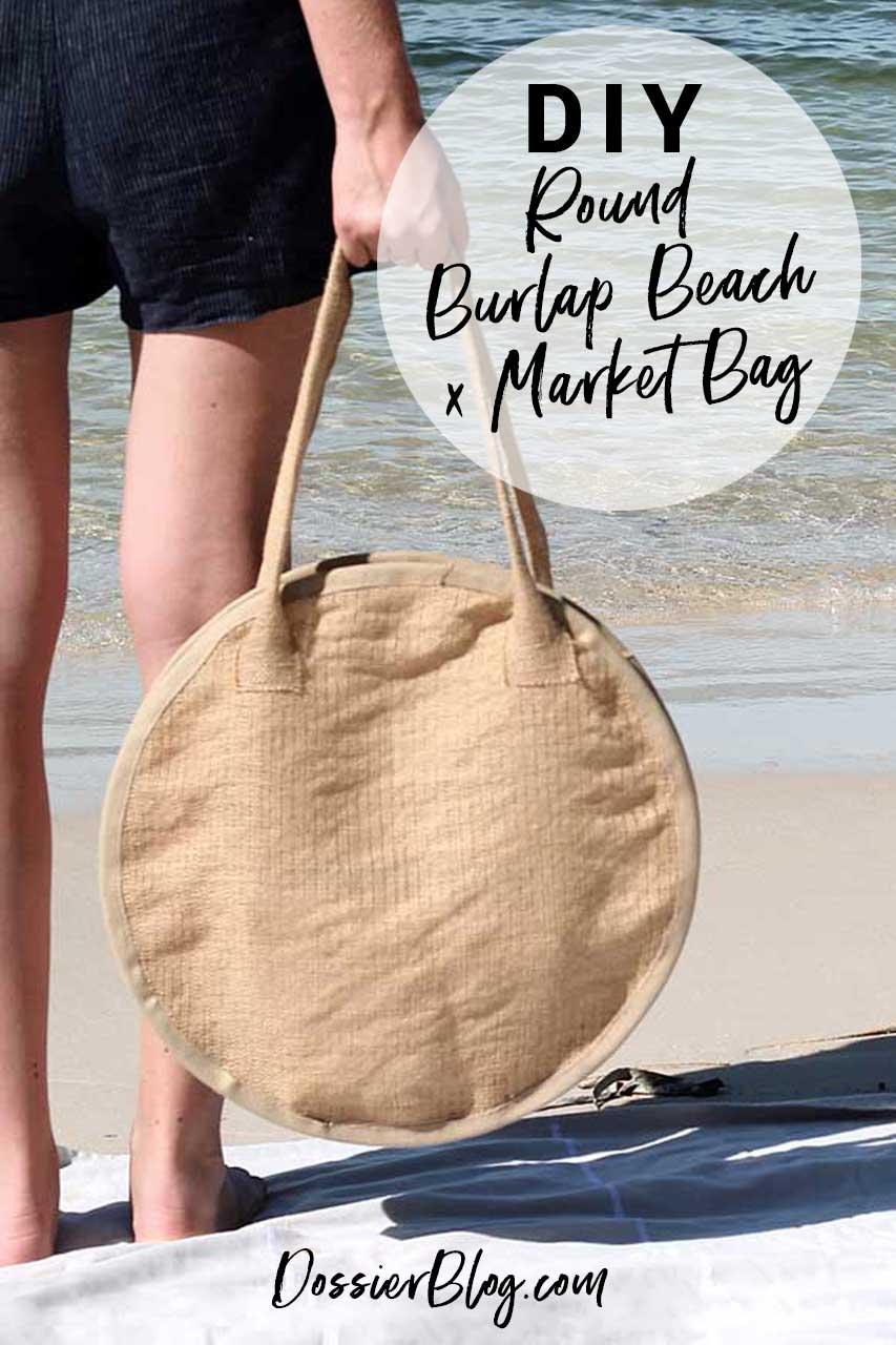 DIY Round Beach x Market Bag