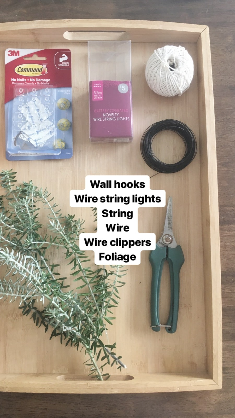 what you need to make an easy garland