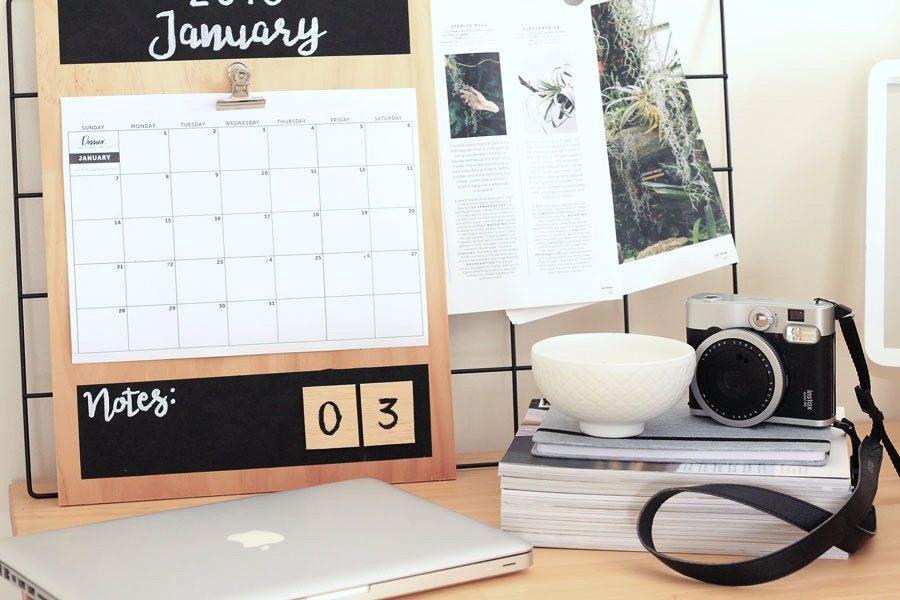 Goal Calendar Diy : Diy plywood calendar my goals dossier