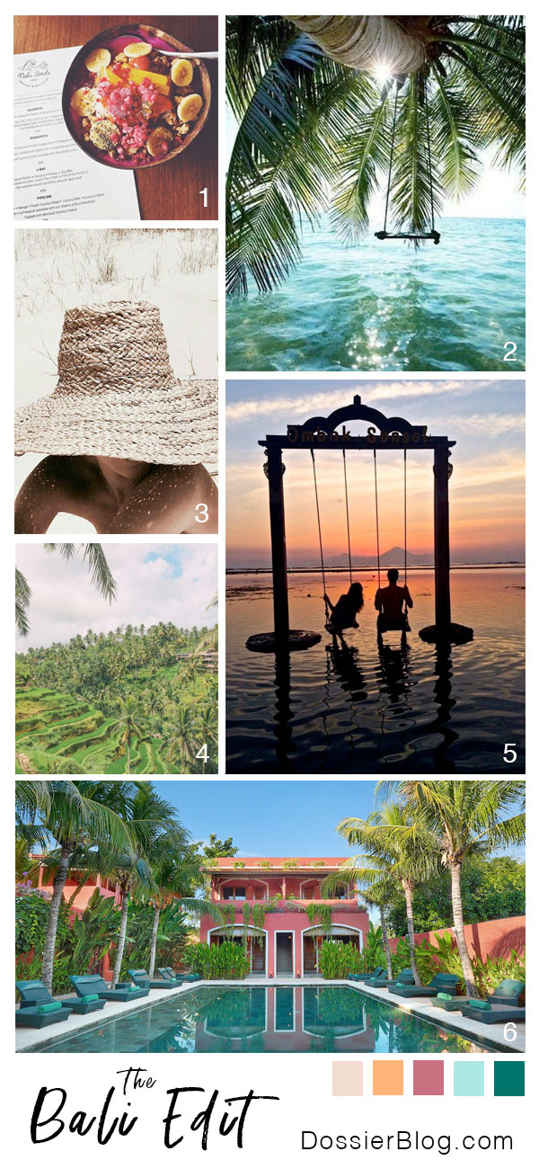 The Bali Edit - Tropical, fresh, warm. From the rice paddies of Ubud to the ocean swing of Gili Trawangan   Dossier Blog