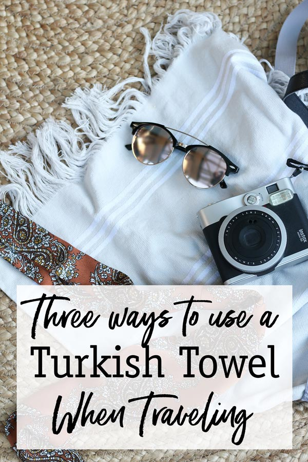 Maximise your luggage space when traveling by bringing a turkish towel! Find out why they are so versatile