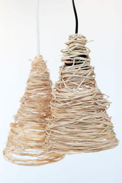 Make these easy raffia hanging pendants for under $10!   Dossier Blog