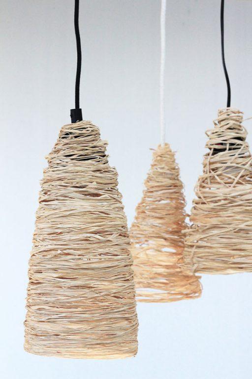 Make a raffia pendant light for under $10!   Dossier Blog