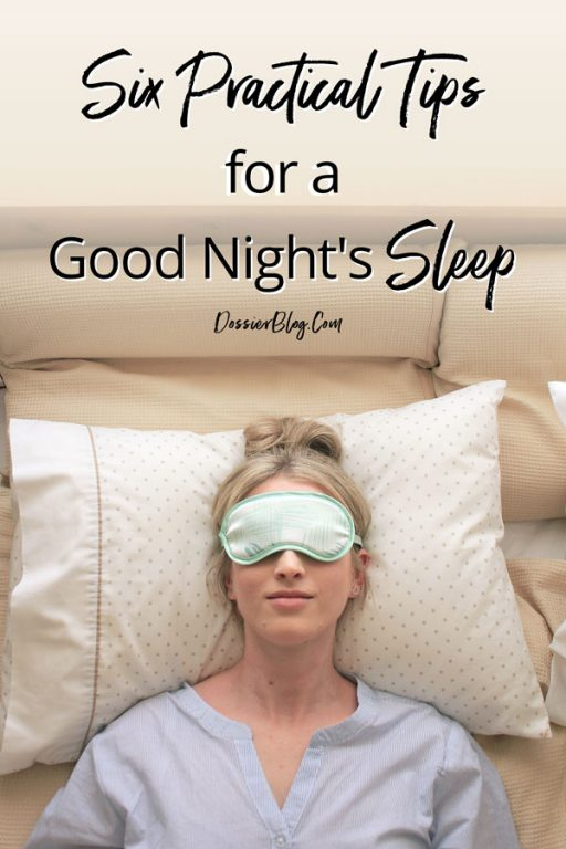 How to get a good night's sleep tonight | Dossier Blog