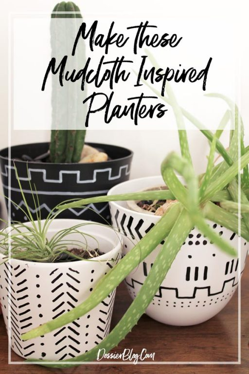 How to recreate the look of mudcloth on almost anything! | Dossier Blog
