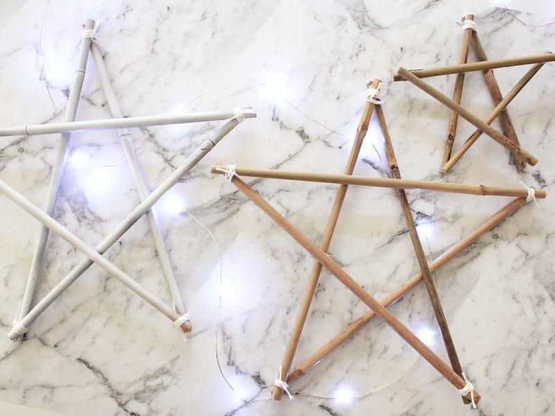 12 DIYs of Christmas: Bamboo Stars   Dossier Blog